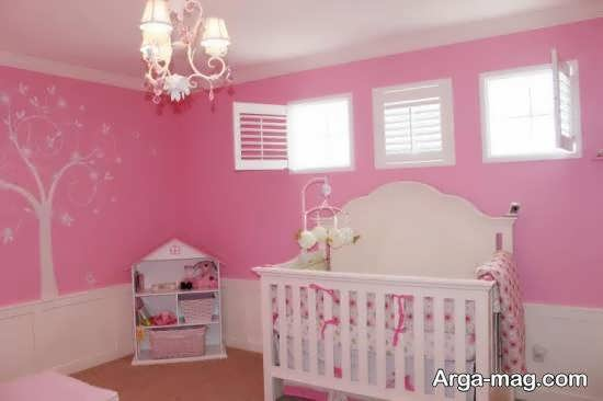گالری جدید و متفاوتی از دکوراسیون اتاق نوزاد با رنگ صورتی