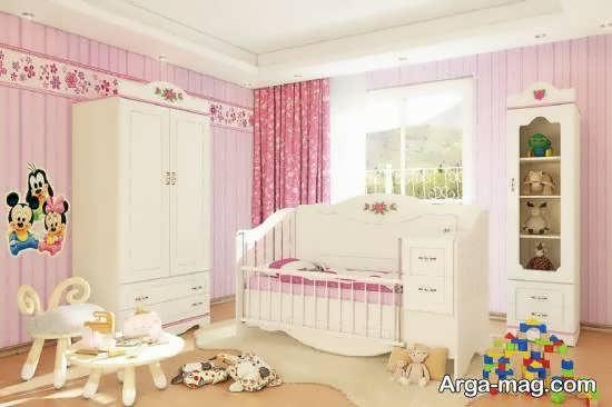 نمونه هایی بینظیر و جالب از چیدمان اتاق نوزاد با طیف های مختلف رنگ صورتی