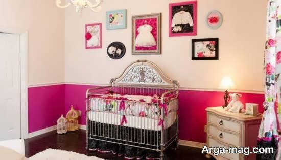نمونه هایی بینظیر و جالب از زیباسازی اتاق نوزاد با رنگ صورتی