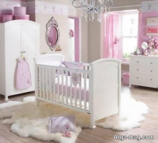 ایده هایی منحصر به فرد از دکوراسون اتاق نوزاد رنگ صورتی رنگی احساسی