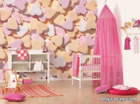 گالری بینظیری از طراحی و زیباسازی اتاق نوزاد با رنگ صورتی