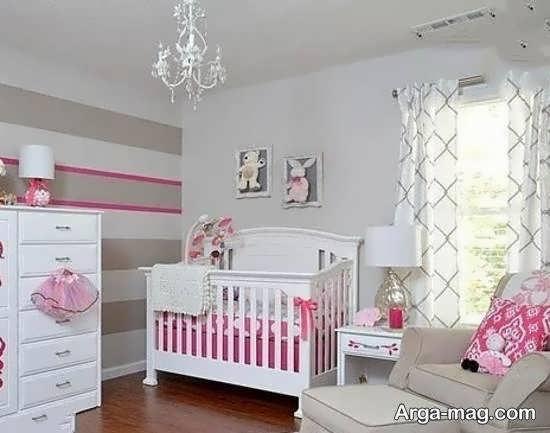 گالری زیبایی از دکوراسیون اتاق نوزاد با رنگ صورتی رمانتیک