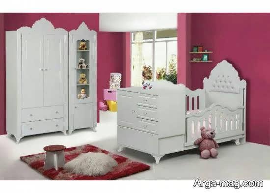 نمونه هایی خواستنی از طراحی اتاق نوزاد صورتی