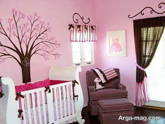 ایده هایی زیبا و جذاب از دیزاین اتاق نوزاد صورتی