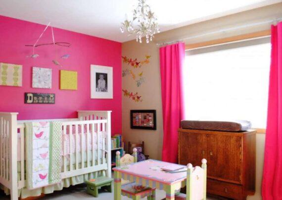 ایده های زیبایی از دکوراسیون اتاق نوزاد صورتی