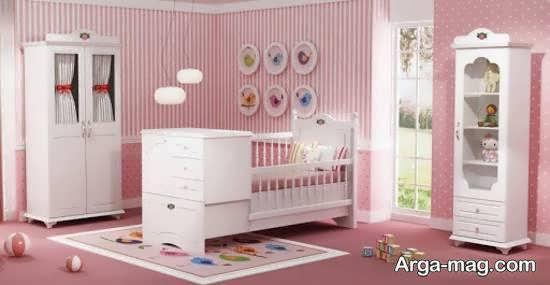 نمونه هایی زیبا و جذاب از چیدمان اتاق نوزاد صورتی