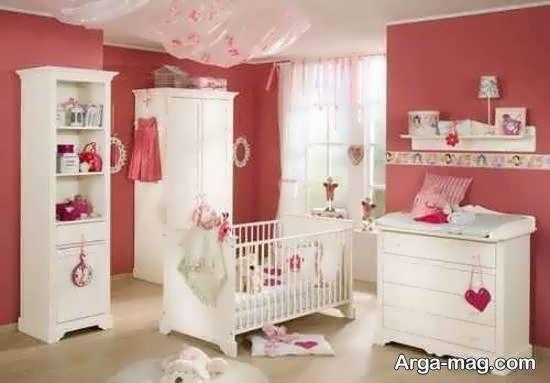 ایده هایی لاکچری و زیبا از دکوراسیون اتاق نوزاد صورتی