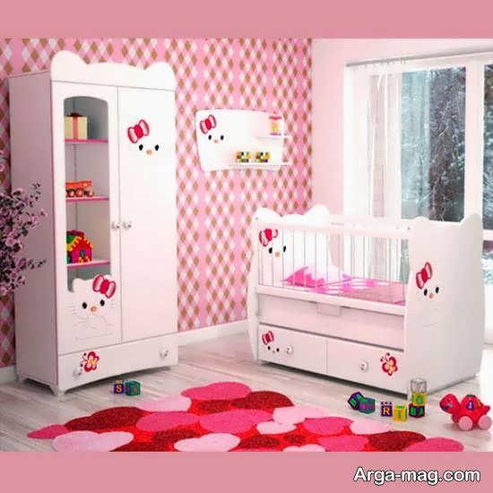 نمونه هایی زیبا و جذاب از دیزاین اتاق نوزاد با رنگ صورتی