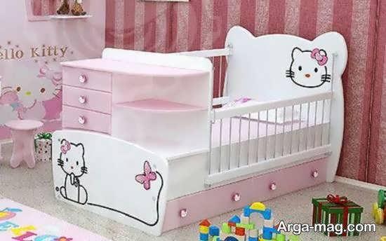 مجموعه ای شیک و لوکس از چیدمان اتاق نوزاد با رنگ صورتی