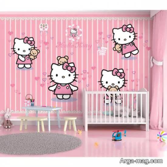 ایده هایی زیبا و جذاب از دیزاین اتاق نوزاد صورتی رنگ