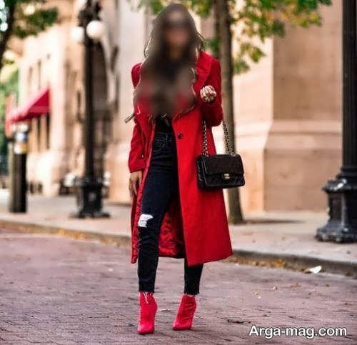 ست لباس زمستانی قرمز