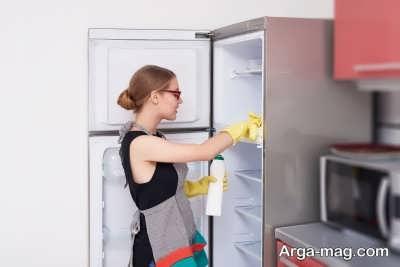 نحوه تمیز کردن فضای داخلی یخچال ها