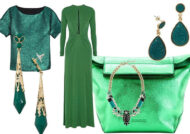 ست لباس سبز