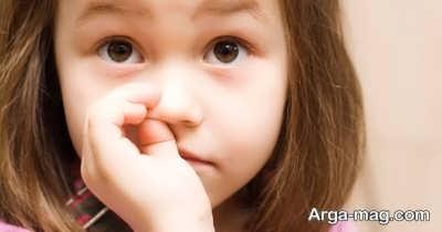 نشانه های وجود جسم خارجی در بینی کودک