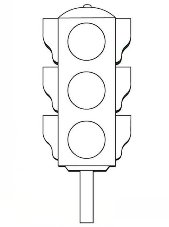 نقاشی ساده چراغ راهنما