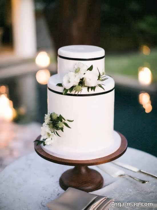 مجموعه ای ایده آل و متفاوت از کیک عروسی دو لایه ای با تزیینات زیبا