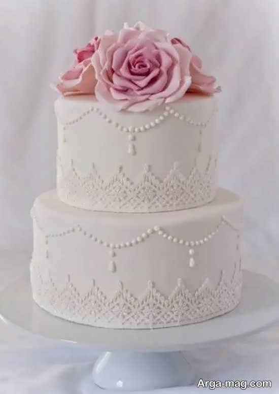 نمونه هایی منحصر به فرد و جذاب از کیک عروسی دو لایه ای