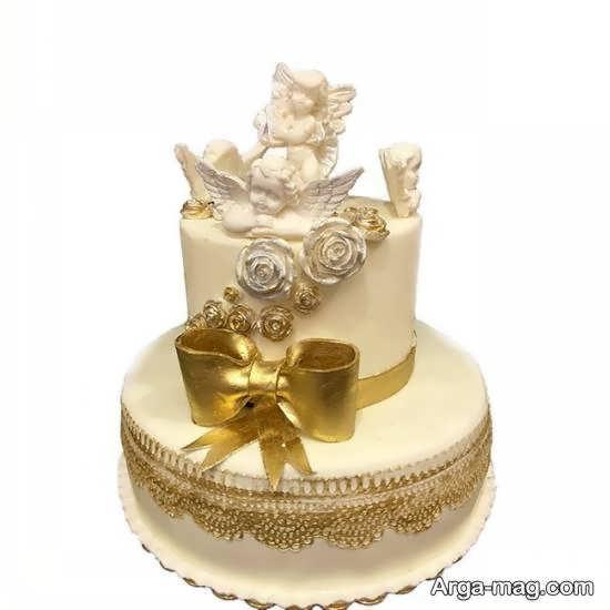 انواع ایده های خاص و خواستنی از کیک عروسی دو طبقه