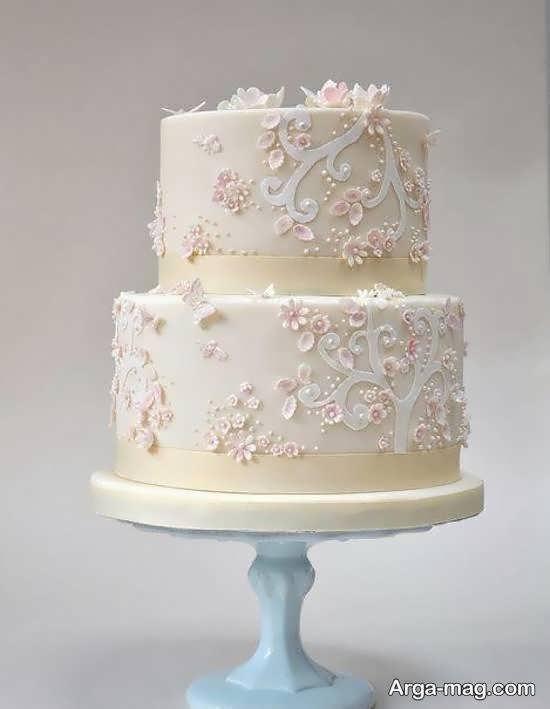 ایده هایی بینظیر و جالب از کیک عروسی دارای تزیینات زیبا و دو ردیف