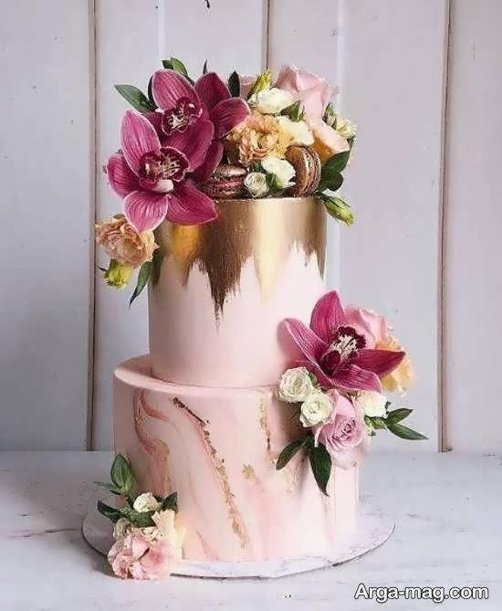 ایده هایی شیک و خواستنی از کیک عروسی با دو لایه