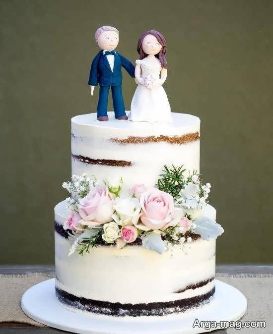 ایده هایی زیبا از کیک عروسی 2 طبقه