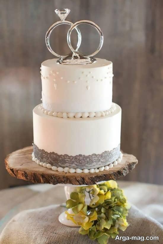 انواع ایده های منحصر به فرد از کیک عروسی دو ردیفه