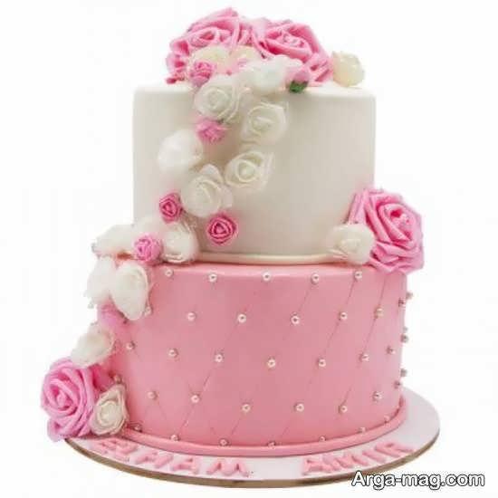 ایده هایی زیبا و جذاب از کیک عروسی دو طبقه