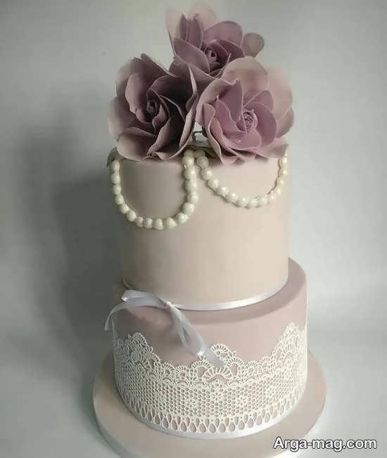 ایده هایی زیبا و جذاب از کیک عروسی دو لایه ای