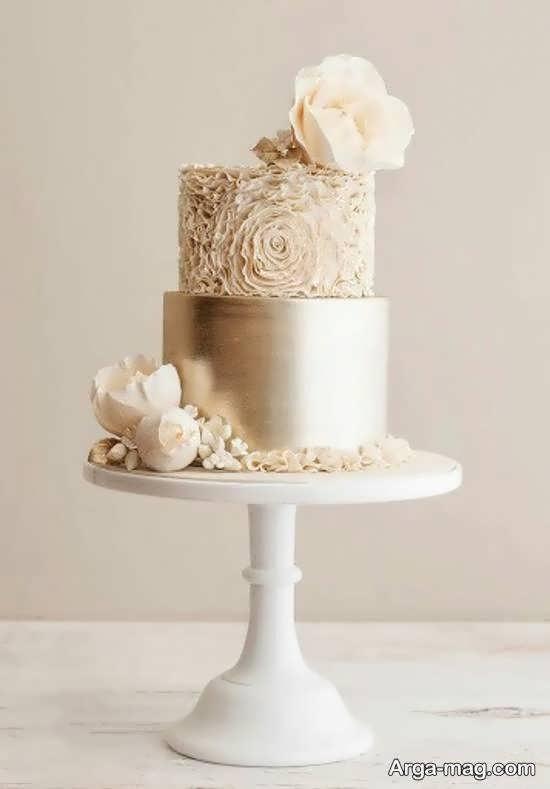 گالری ایده آلی از کیک عروسی دو ردیفه