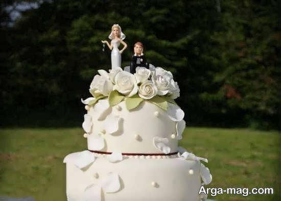 نمونه هایی دوست داشتنی و جدید از کیک عروسی دو طبقه برای تمامی سلیقه ها