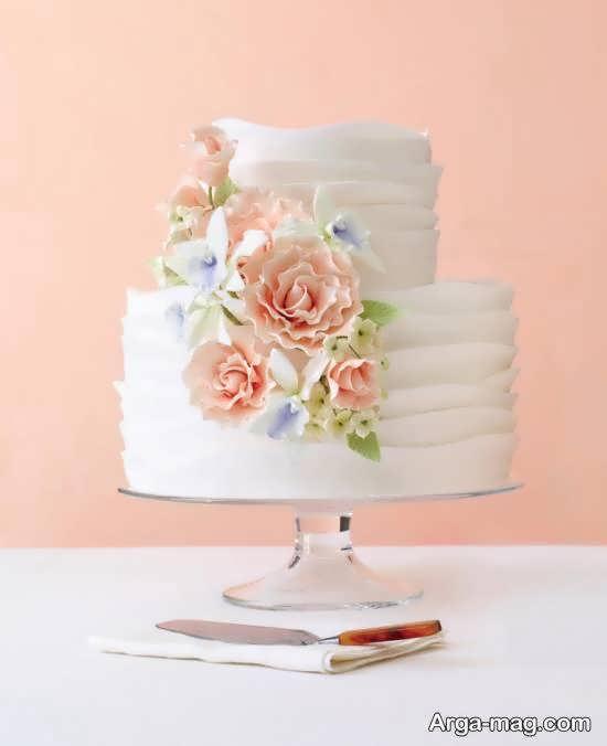 ایده هایی متفاوت و زیبا از کیک عروسی دو لایه ای