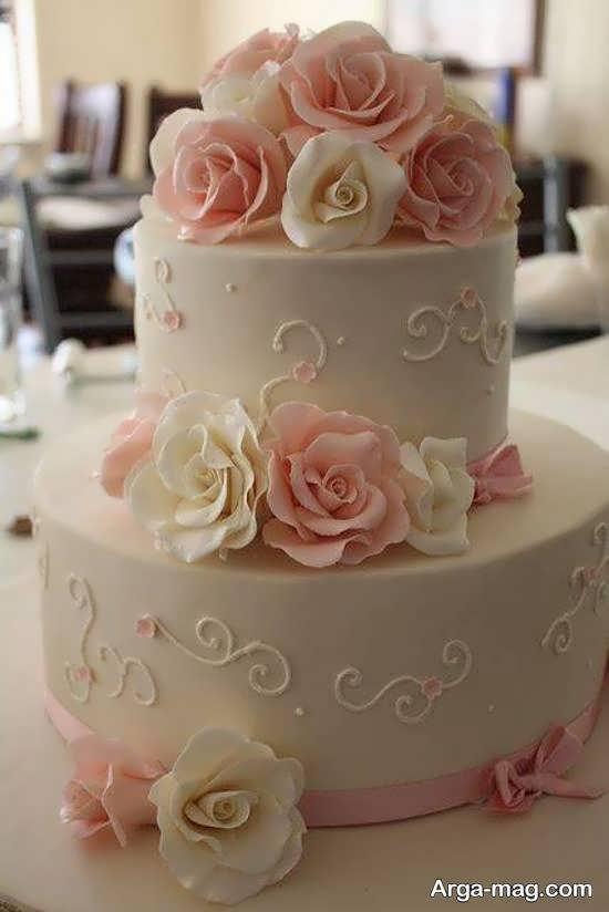 ایده هایی زیبا و جذاب از کیک عروسی دو لایه