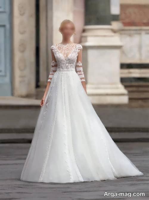 مدل لباس عروس آستین دار و شیک