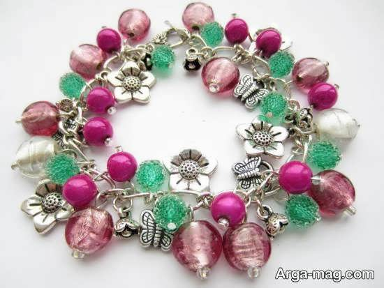 آموزش ساخت دستبند خوشه ای با استفاده از رنگ های زیبا
