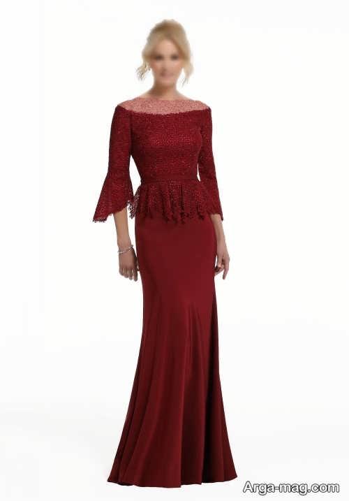 مدل لباس مجلسی 2021 آستین دار