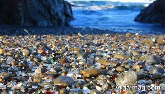 ساحل شیشه مانند