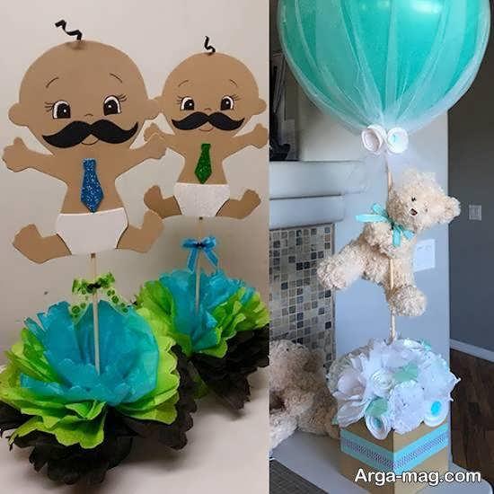 نمونه هایی شیک برای تزیینات جشن ده روزگی نوزاد