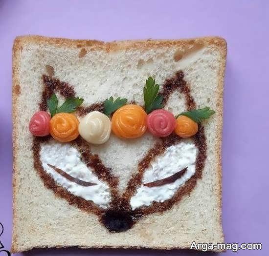 دیزاین و طراحی نان تست به شکل حیوان روباه