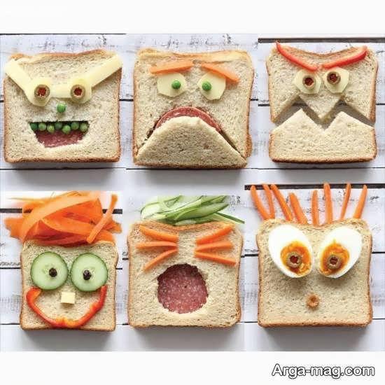 ایده هایی زیبا و ناب از تزیین نان تست