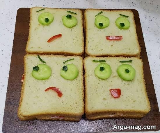 ایده هایی زیبا و شیک از تزیین نان تست