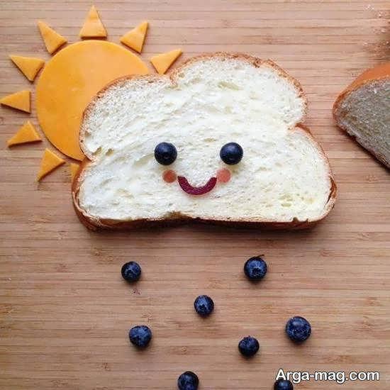 ایده های زیبایی از تزیین نان تست خوش طعم