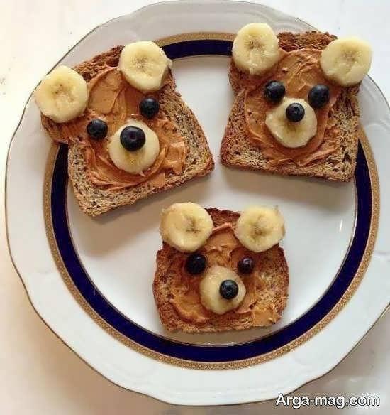 مجموعه ای زیبا و جذاب از تزیین نان تست