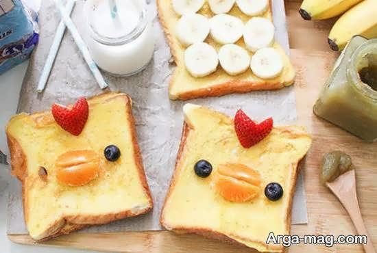 نمونه هایی ایده آل و شیک از تزیینات نان تست