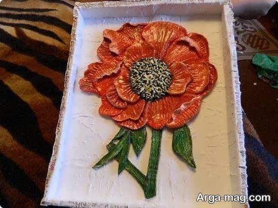 ایده هایی زیبا از تابلو برجسته با طرح گل و روش ساختن آن