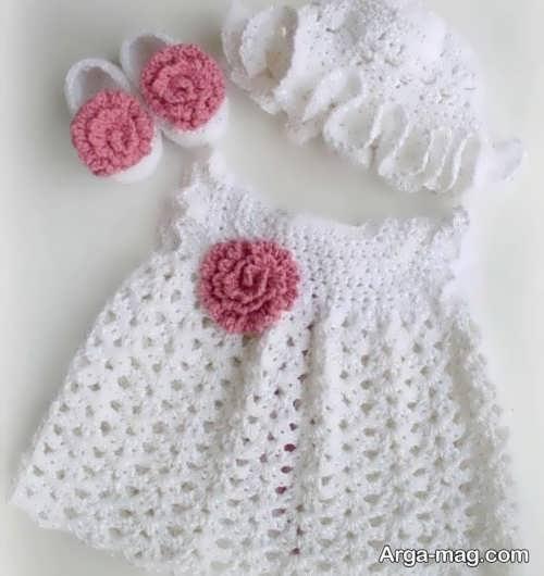 لباس سفید بافتنی