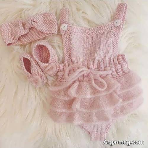 ست لباس بافتنی نوزادی
