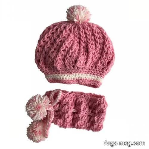 مدل کلاه و شال نوزادی