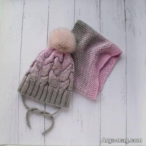 شال و کلاه شیک نوزادی