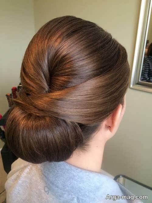 مدل شینیون موهای صاف