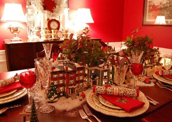 ایده های زیبا و شیکی از تزیین میز کریسمس